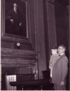 I am a second-generation lawyer. I'm the smaller person in the picture above, perched on my father's arm at his swearing-in as an attorney at the United States Supreme Court.